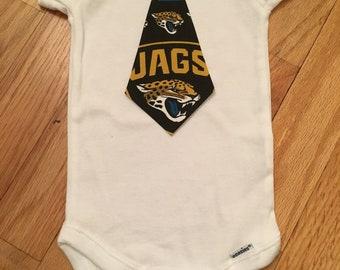 Jacksonville Jaguars Tie Onesie