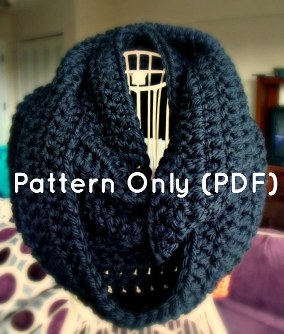 Crochet Infinity Scarf Pattern From Myprettybrowndoll On Etsy Studio