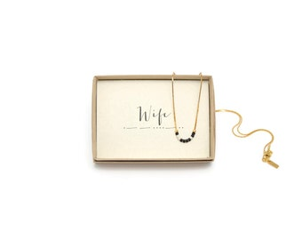 WIFE || Morse Code Necklace, Wife Necklace, Anniversary Gift For Wife, Wife Birthday Gift, Wife Gift, Wife Jewelry, Wife Birthday, For Her