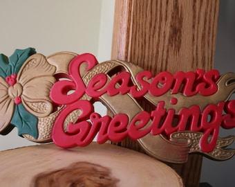 """Vintage """"Season's Greetings"""" Sign"""