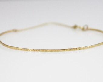 14K solid gold thin bracelet, delicate, 14K layering bracelet, 14K minimalist bracelet, 14K everyday bracelet, stackable, stacking bracelet