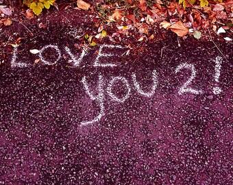 Love You 2! - greeting card