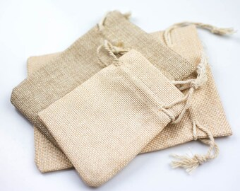Burlap Gift Bags- 3 Sizes- High Quality