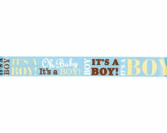 "7/8"" It's a Boy Baby Ribbon - Baby Announcement Ribbon - Select # of Yards"