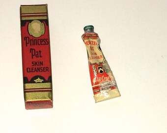 Vintage Princess Pat Skin Cleanser Cold Cream Tube Trial Size 1920s 1930s