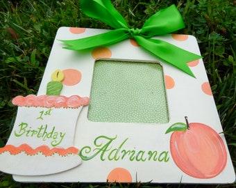 Cadre de thème anniversaire Photo Photo personnalisé Nursery bébé enfants