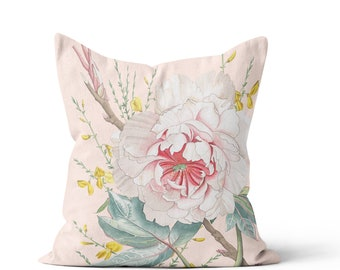 Floral Pillow Cover Spring Decor Blush Peony Pillow Sabrina