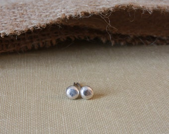 Tiny Sterling Silver Stud Earrings