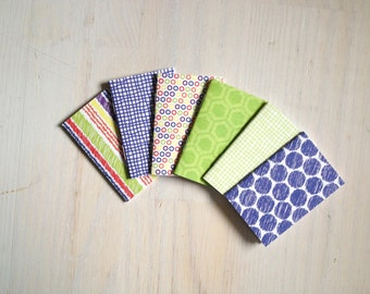 Notebooks: 6 Tiny Journal Set, Fun, Shapes, Favors, Small Notebooks, For Her, For Him, Gift, Unique, Mini Journals, Cute, Wedding, T106