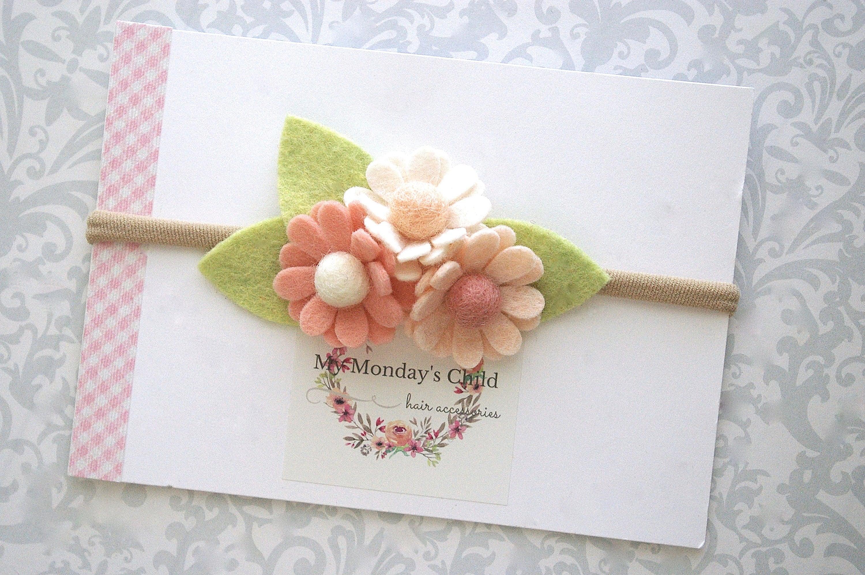 Daisy Flower Headband Or Hair Clip Daisy Headband Daisy Baby