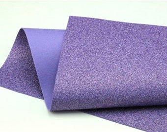 Purple Iris Glitter - Glitter Wool Felt Sheets - You choose size