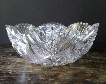 Reduced Beautiful Whirling Star Crystal Bowl