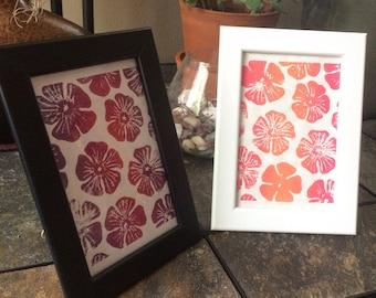 Hibiscus Linocut Print