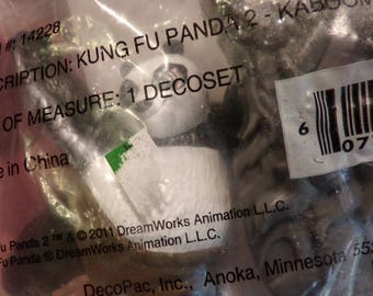 Decopac Kung Fu Panda 2 Kaboom of Doom Party Cake Topper, Panda cake topper