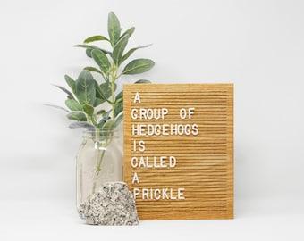 Wooden Letter Boards
