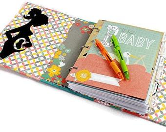 Pregnancy Journal - Gift for Pregnnt Mom - Pregnancy Diary - Pregnancy Scrapbook - Pregnancy Tracker - Baby Bump Book - Pregnancy Planner