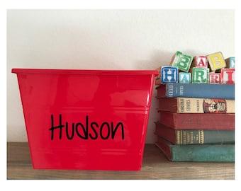 Personalized Custom Book, Storage or Toy Box