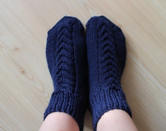Dark blue and grey soсks