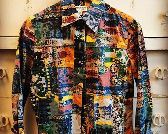 Vintage Color Explosion Jacket Small