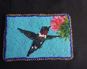 Beaded Ruby Throated Hummingbird