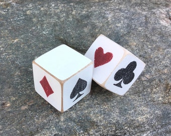 """1"""", Trump, Marker, Dice, Cube, Euchre, Die, Block, Pinochle, Tiny, Wood, Hand Painted,"""