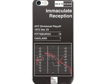 Steelers Football iPhone Case: Immaculate Reception (1972)