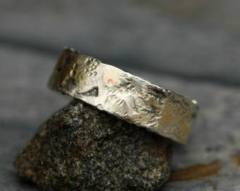 Sterling Silver and Yellow Gold Band- Ready To Ship Size 8.5 Mixed Metal Ring