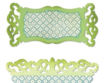NEW LOW PRICE: Sizzix Sizzlits Large Die -  Label & Edge, Scrollwork  658475