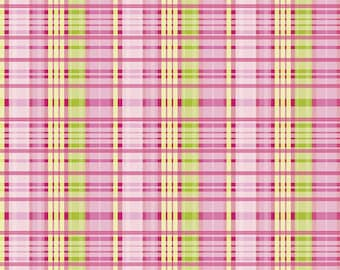 Primavera Plaid Pink by Riley Blake - Primavera Plaid Pink by Patty Young