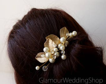 Gold Hair Pins Wedding Hair Pin Wedding hair clip Bridal Gold Hair Accessories