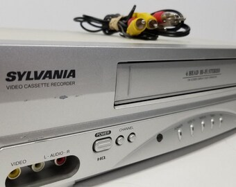 Sylvania SSV6003 VCR Player VHS Recorder 4 Head Hi-Fi Stereo With Cables