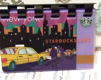 "Starbucks upCycled Gift Card Notebook   ---  ""New York 2010"""