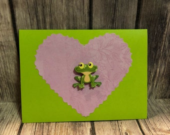 Froggy Card - heart