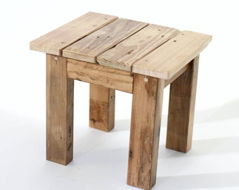 Rustic Reclaimed Wood Mini Stool/Bench