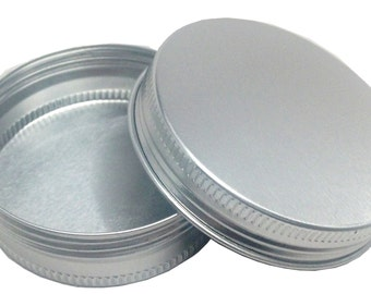 24 Round Tins Aluminum Screw Top Plain Empty Party Favors