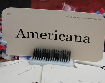 Americana flash card tag set