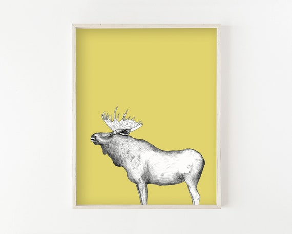 """Moose"" - wall art print"
