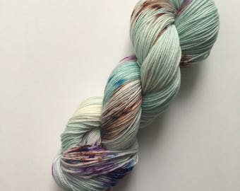 "Hand dyed socks wool, colour: ""Merpeople"", 100gr/4ply hand-dyed yarn"