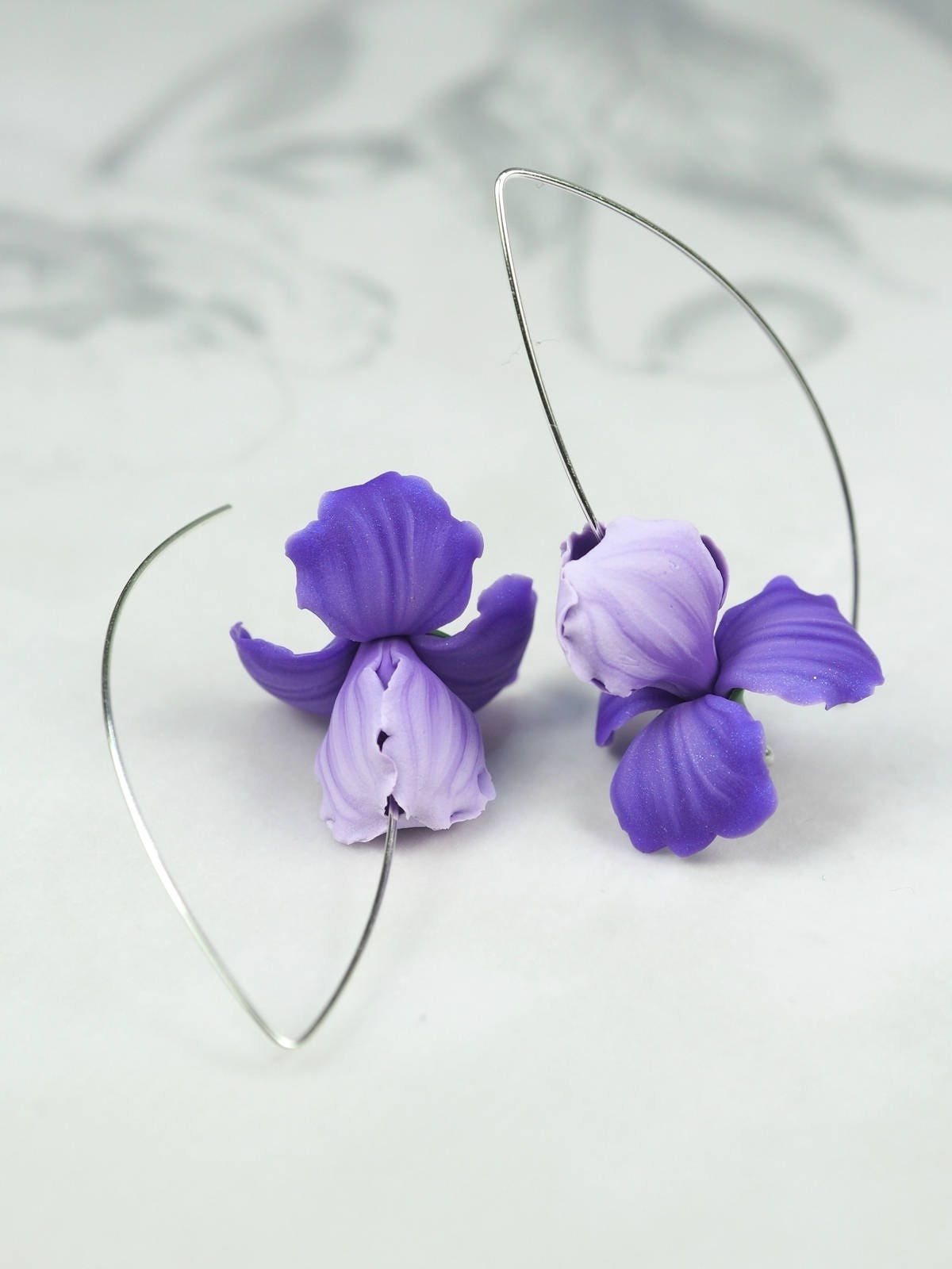 earrings w white flower brown with feminine oh so shop purple dk creations