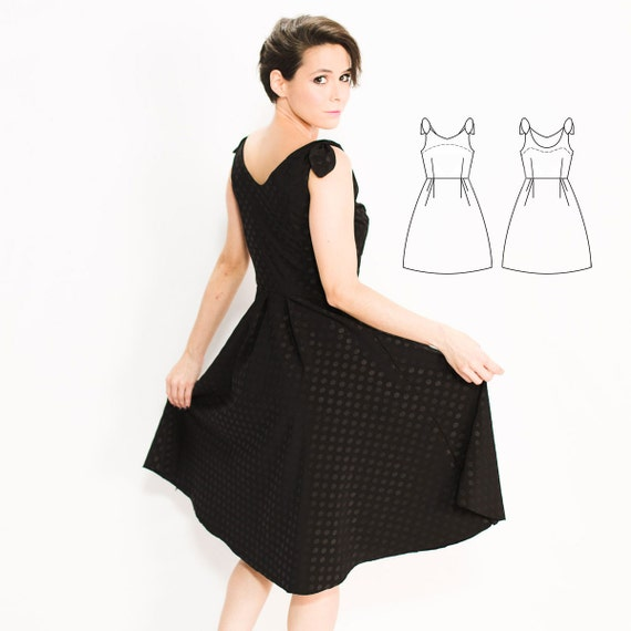 Audrey Hepburn Dress PDF Sewing Pattern for Women, Sewing Patterns ...