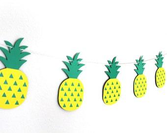 Pineapple Banner - Pineapple Party Decor - Pineapple Garland - Tutti Frutti Decor - Twotti Frutti Decor - Tropical Decor - Hawaiian Decor