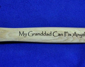 Gift For Grandpa ~ Grandpa Birthday ~ Engraved Hammer ~ Grandfather Gift ~  Personalized Hammer ~ Custom Gifts ~ Gifts For Guys ~ Dad Gifts