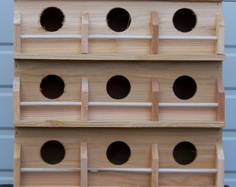 Purple Martin bird house with 9 seperate compartments Western red cedar .  Free shipping