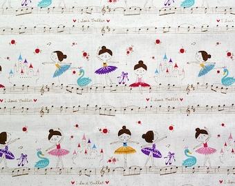 Ballerina Fabric: Kokka - Trefle