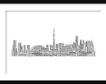 Toronto Canada Skyline Typography Print Poster