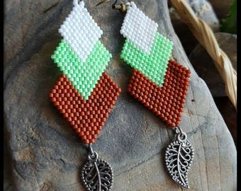Neon Green Triangle Dangles