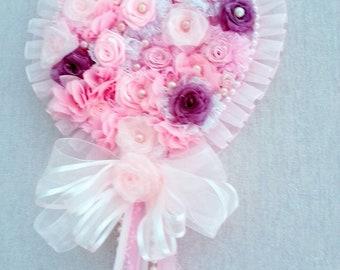 Shabby chic roses heart
