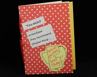 Southwest Chile Chicken Soup Get Well Card, Greeting Card by MeMeCards