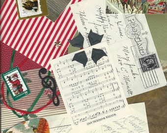 Christmas Grab Bag of 23 Pieces for DIY Card Making, Memory Books, Photo Albums, GiftTags, Collages, Scrapbooking and Decoupage PSS 3328