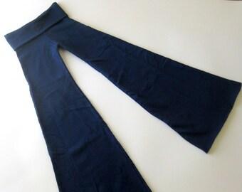 Ninja Pants -- Navy Blue Sweatshirt Fleece -- Size XL
